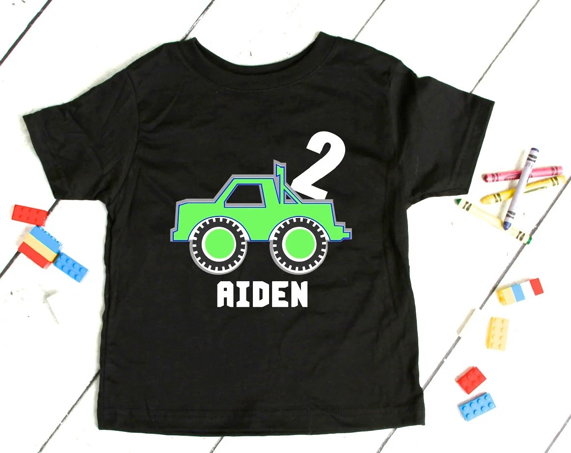 Toddler 2 Years Old Birthday Birthday Present Boy Personalized Toddler Boy Shirt