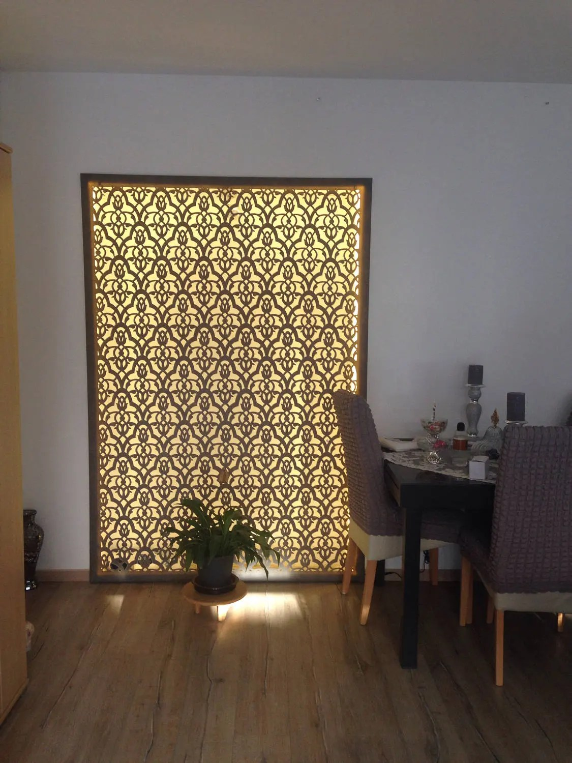 Islam Wanddeko Mural Pano Oriental With Led Handcrafted Wall Decoration Islamic 2 M X 1 30 M Only Pick Up Tablo