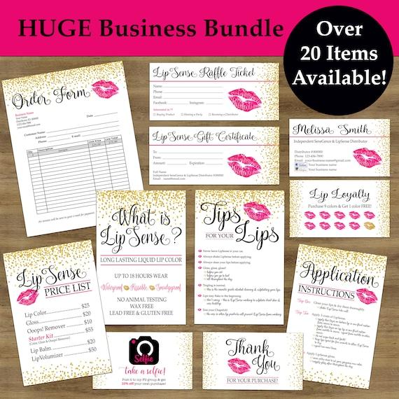 Lipsense Business Cards Lipsense Tips  Tricks Lip Sense Etsy