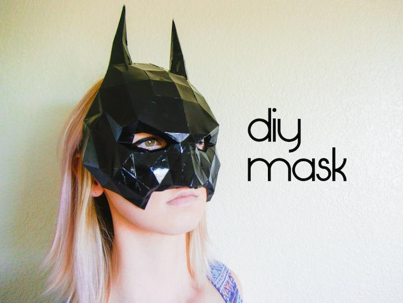 Batman Mask Make your own with a PDF Download batman Etsy