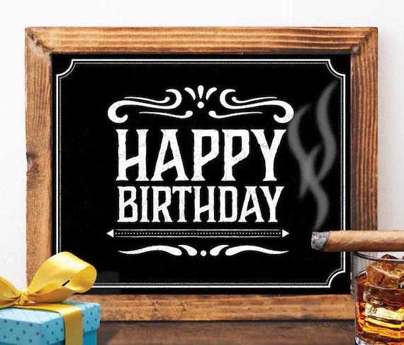 Happy birthday sign printable happy birthday sign jack daniels Etsy