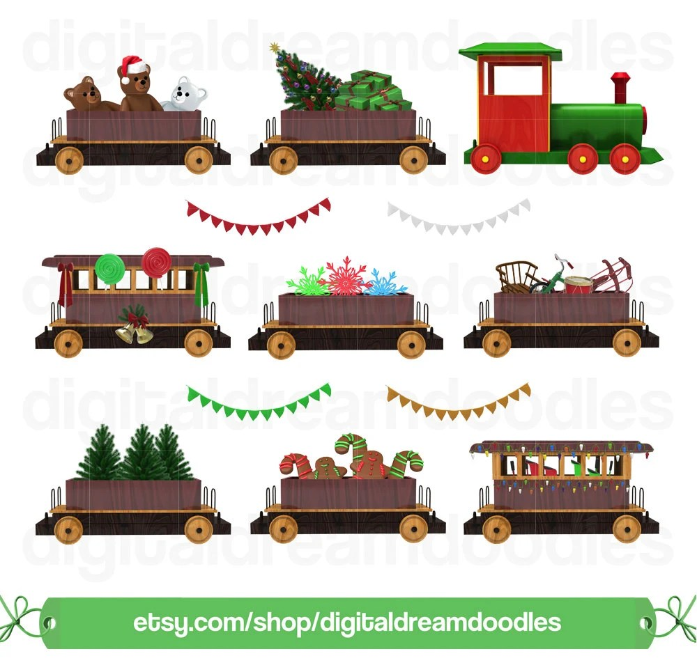 Weihnachten Deko Zug Weihnachten Zug Clipart Xmas Zug Clipart Polar Express Grafik Wagen Wagen Eisenbahn Bild Winter Schneekugel Scrapbook Digitaler Download