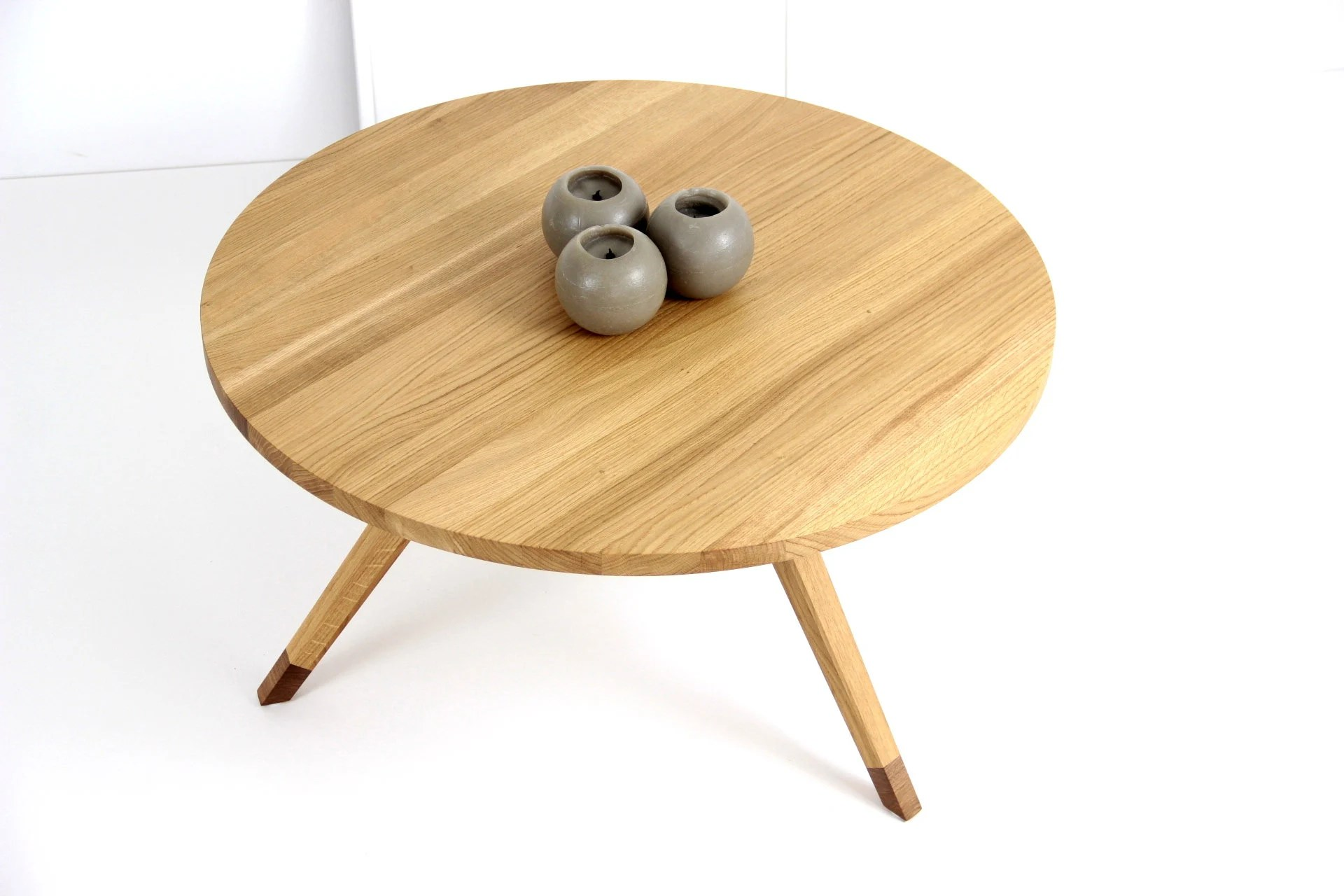 Couchtisch Egg Coffee Table Round Table End Table Oak Table Side Table Table Basse Ronde Runder Couchtisch