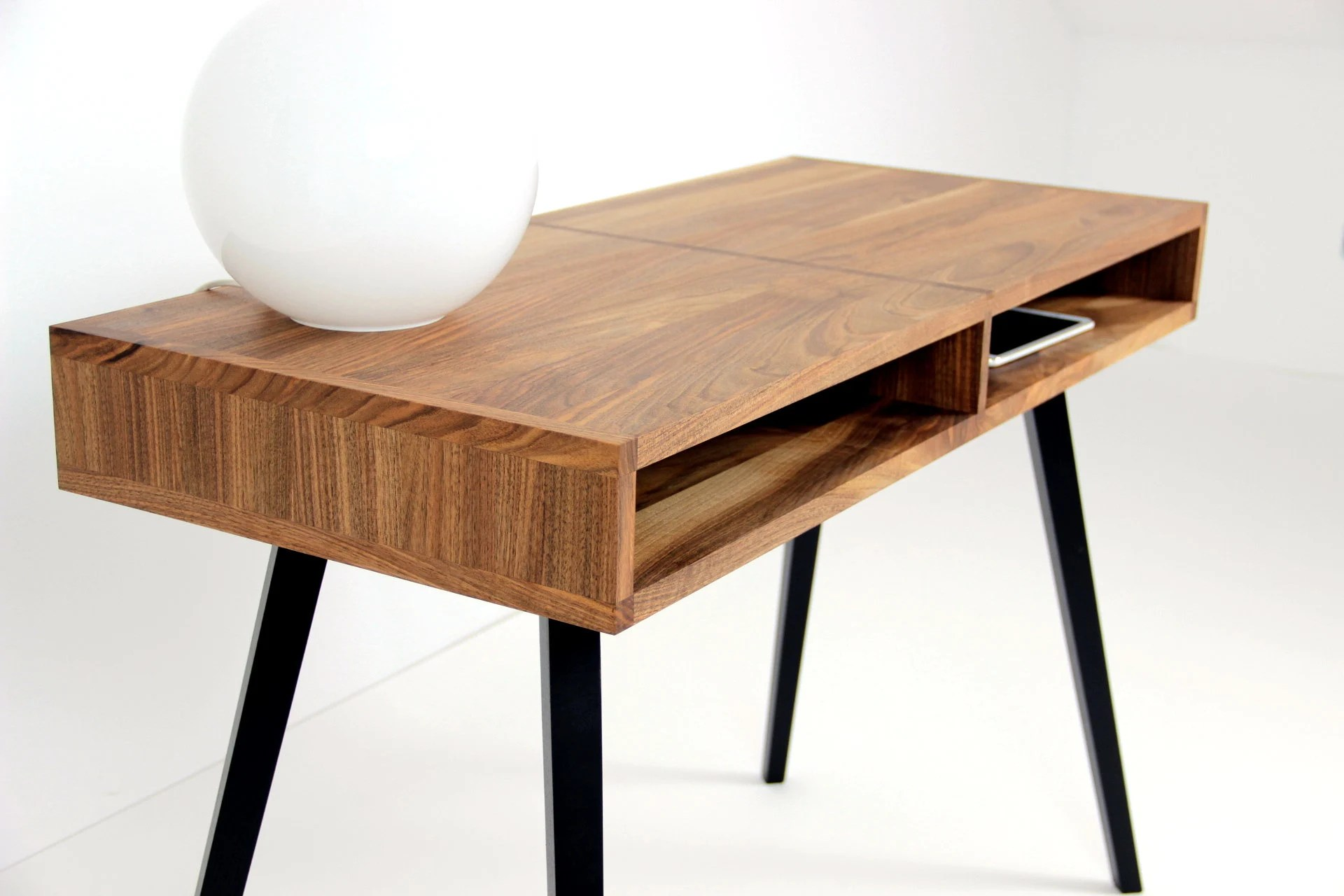 Schreibtische Modern Modern Desk Mid Century Desk Solid Walnut Desk Wooden Desk Table En Noyer Office Desk Custom Made Desk Schreibtisch Bureau Desk