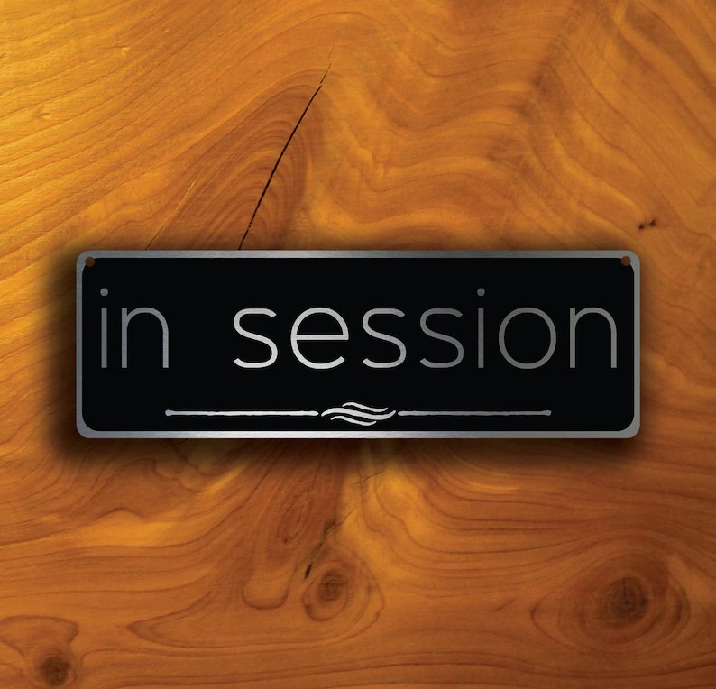IN SESSION DOOR Sign In Session sign In Session Signs In Etsy