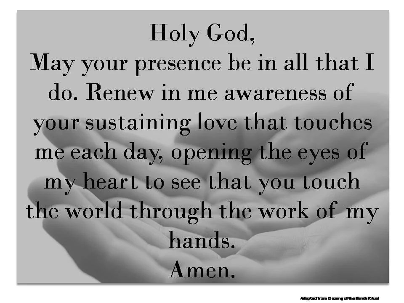 Caregiver Hand Blessing Digital Print Catholic Prayer for Etsy