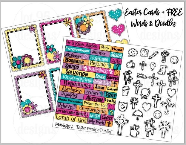 Printable Easter Journaling Cards and Tabs PLUS - free printable religious easter cards