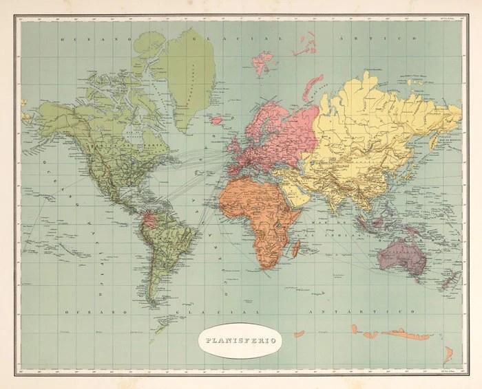 World map printable Antique digital world map print Map Etsy