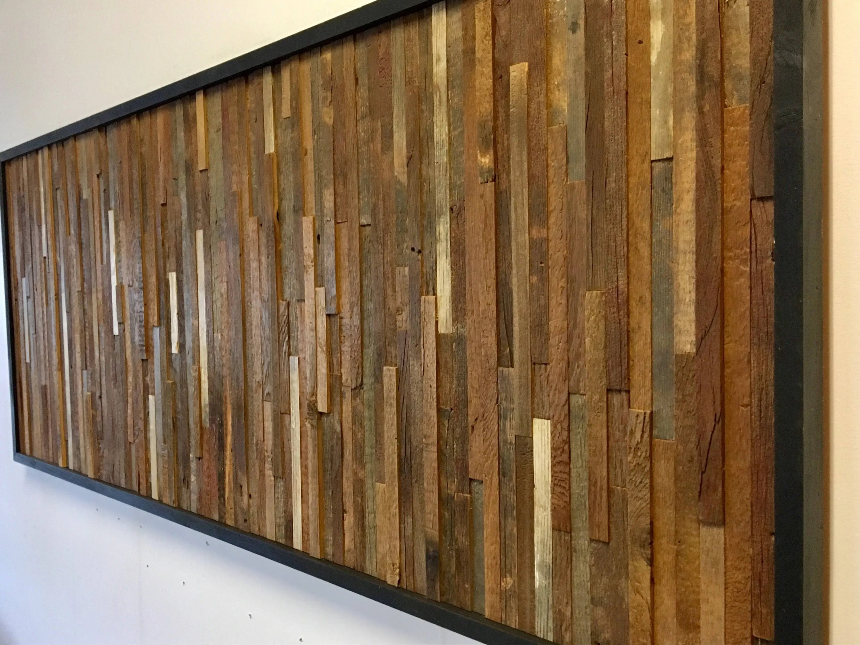 Vertical Wood Slat Wall Reclaimed Barn Wood Wall Art Vertical Slats Free Shipping