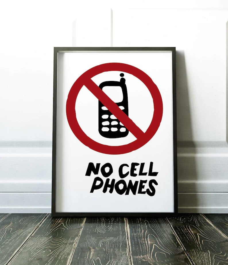 Gilmore Girls Poster No Cell Phones Lukes Diner Gilmore Girls Etsy
