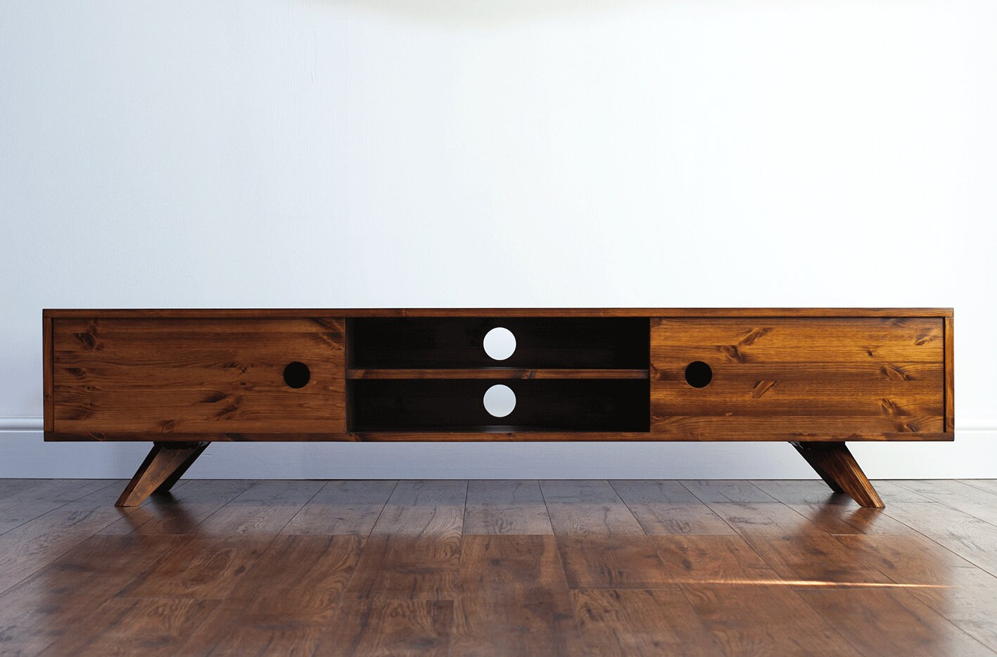 Retro Tv Cabinet 180cm Vintage Retro Tv Stand Cabinet Entertainment Centre Media Console Solid Wood Rustic Lowboard