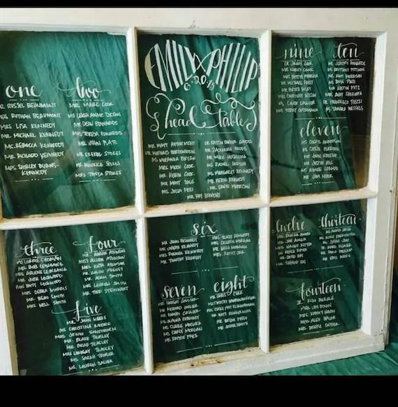 Wedding Window Window Seating ChartRustic Window Rustic Etsy