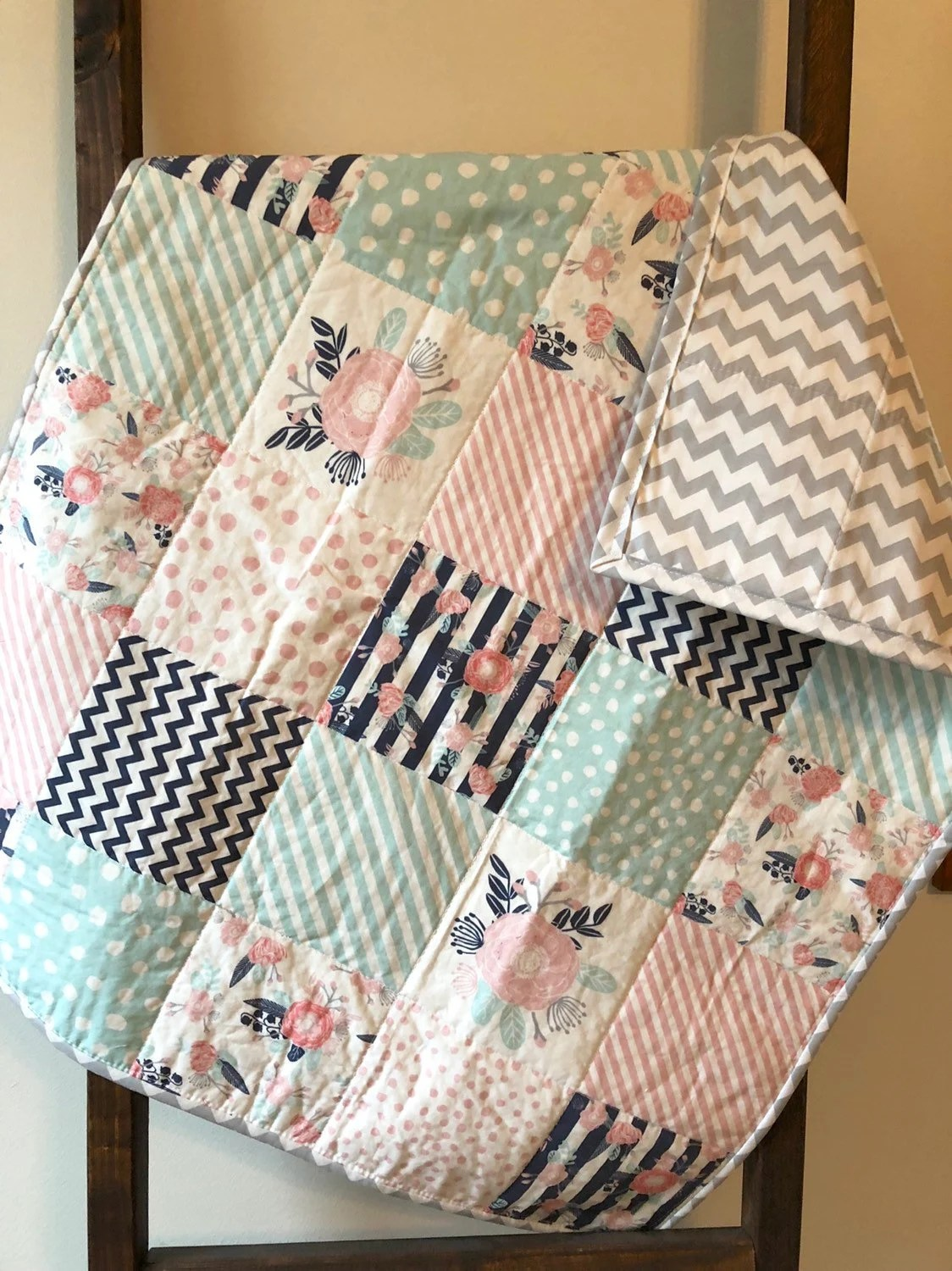 Baby Quilts.com Floral Baby Quilt Baby Girl Quilt Toddler Quilt Nursery