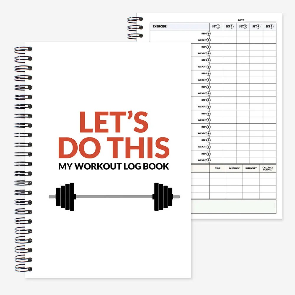 Gym Diary and Workout log book fitness tracker cardio Etsy