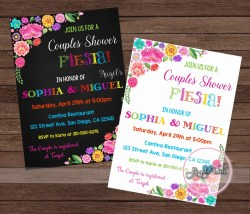 Lummy Fiesta Couples Shower Fiesta Bridal Fiesta 123print Couples Shower Invitations Invitations Couples Shower