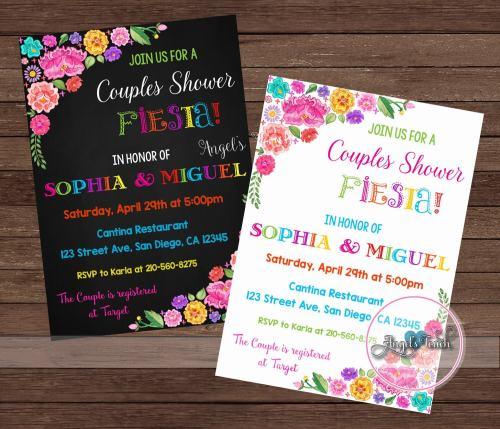 Medium Of Couples Shower Invitations