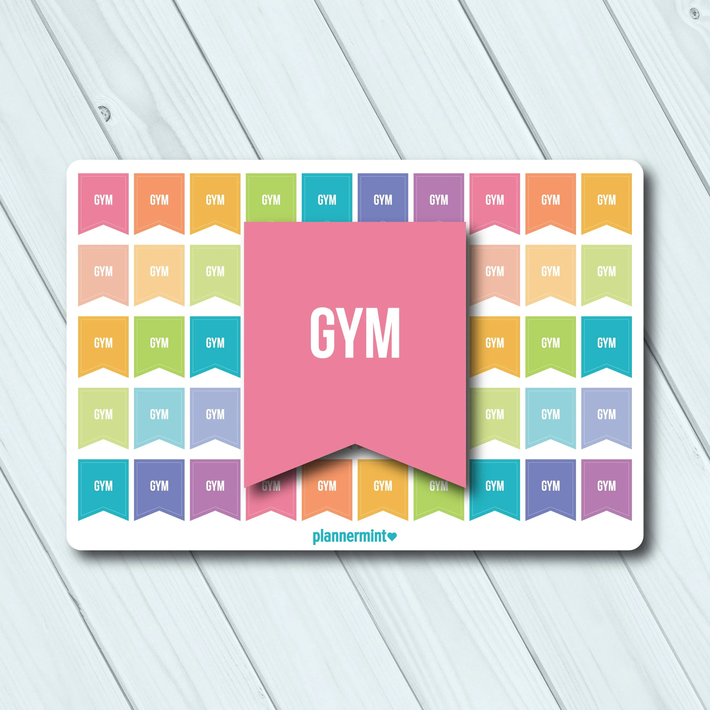Gym Planner Stickers Small Flags Erin Condren Life Planner Etsy