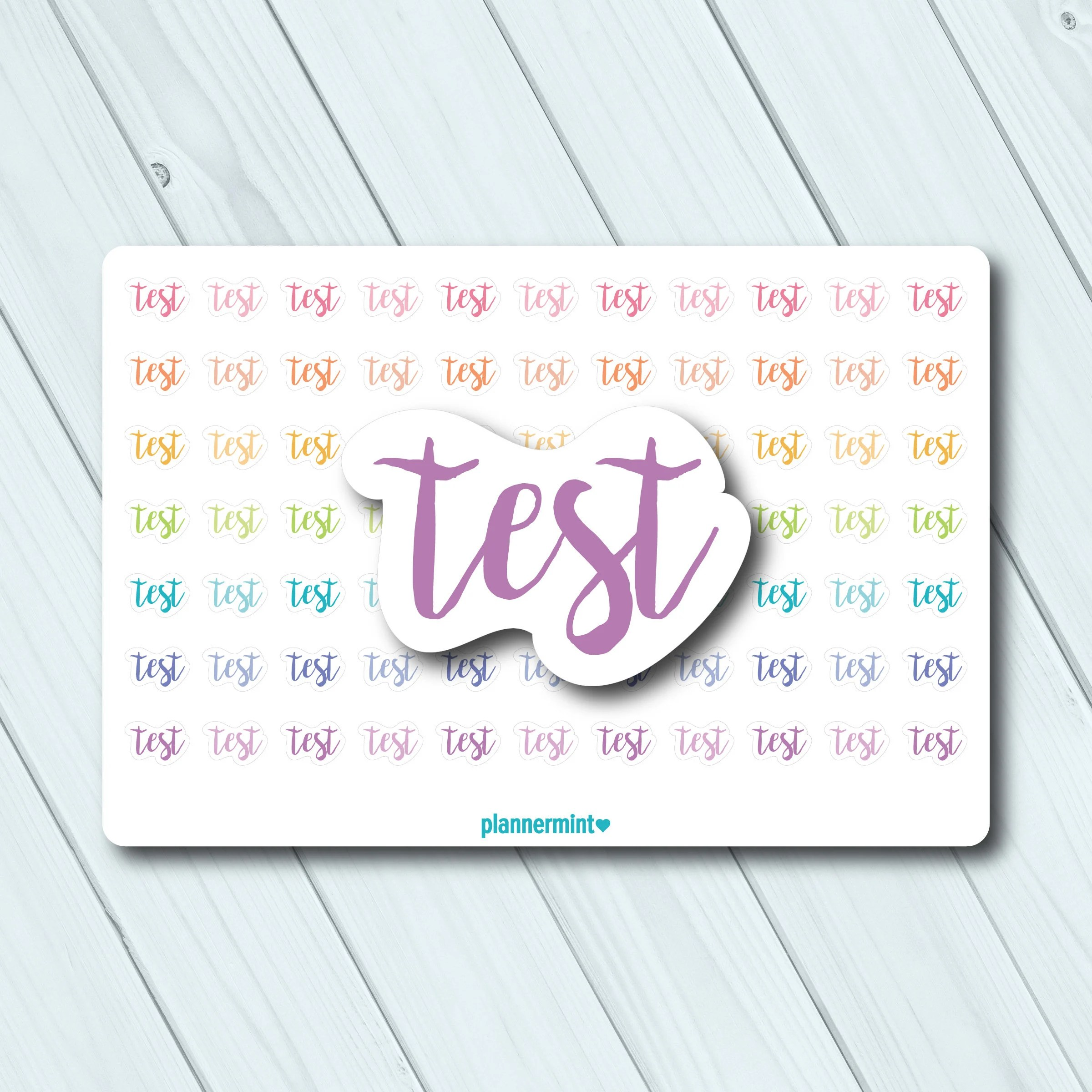 Fitnessmatte Test Test Planner Stickers Word Outline Erin Condren Life Planner Happy Planner School College University Matte Or Glossy