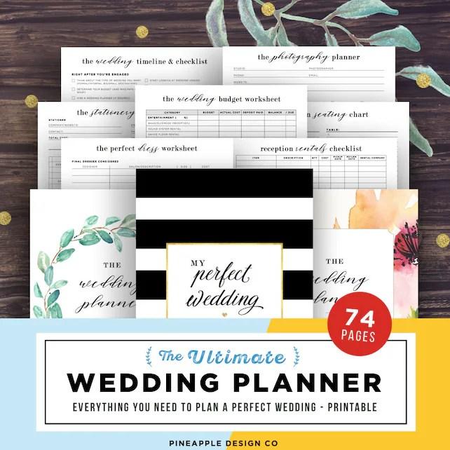 Wedding Planner Printable, Wedding Planning Book, Printable Wedding
