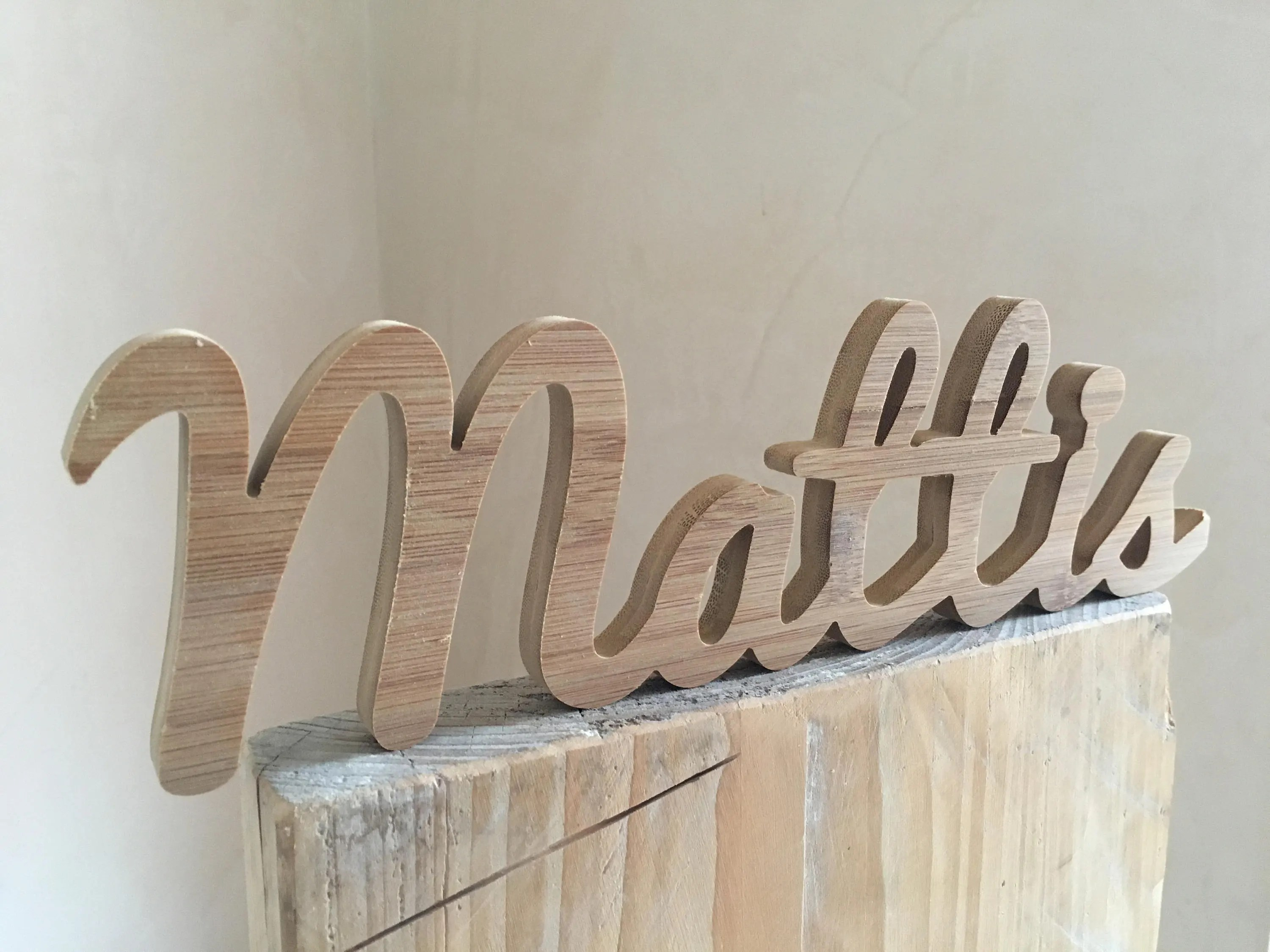 Mattis-Name of wood/wood/lettering in wood/individual design Etsy