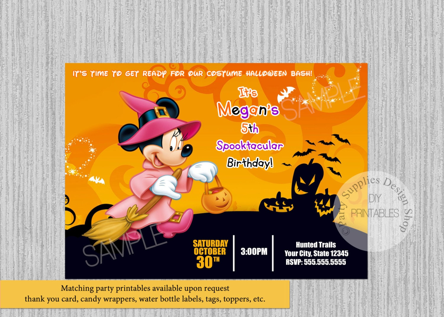 Boss Baby Zurück Im Geschäft Halloween Minnie Mouse Geburtstag Einladungen Diy Druckbare Einladungen Disney Minnie Mouse Halloween Party Einladungen Halloween Party