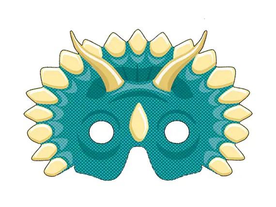 DIY Printable Dinosaur Masks PDF Etsy