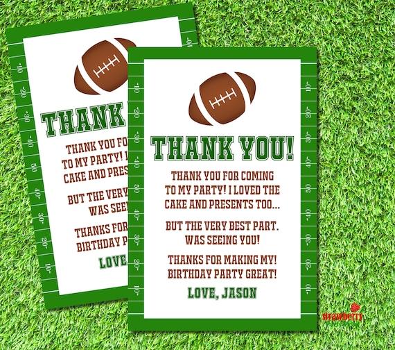 Football Thank You Cards Football Thank You Notes Football Etsy
