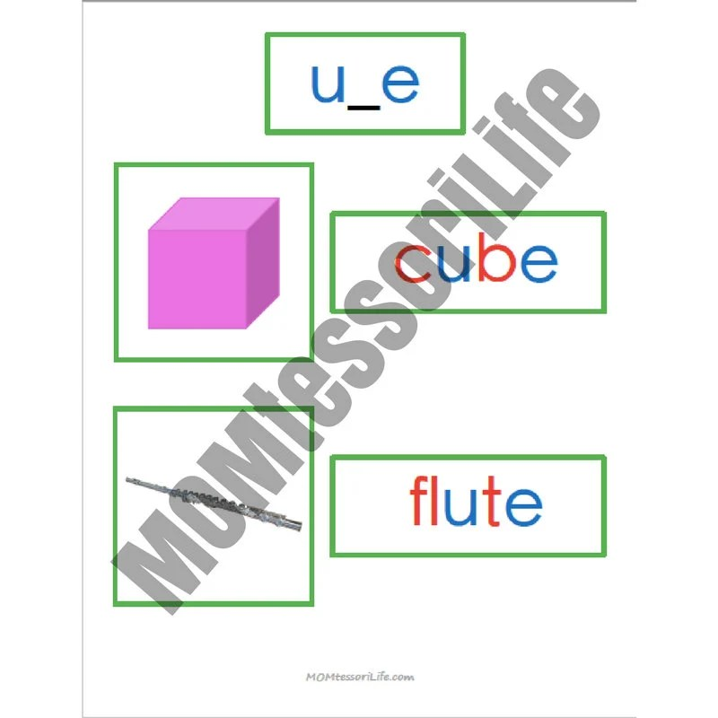 Printable Montessori Green Series Photo and Word Cards Word Etsy