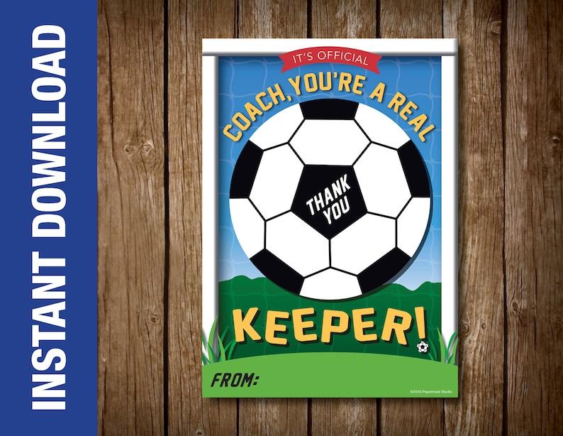 PRINTABLE Soccer Coach Thank You Card Printable Soccer Etsy