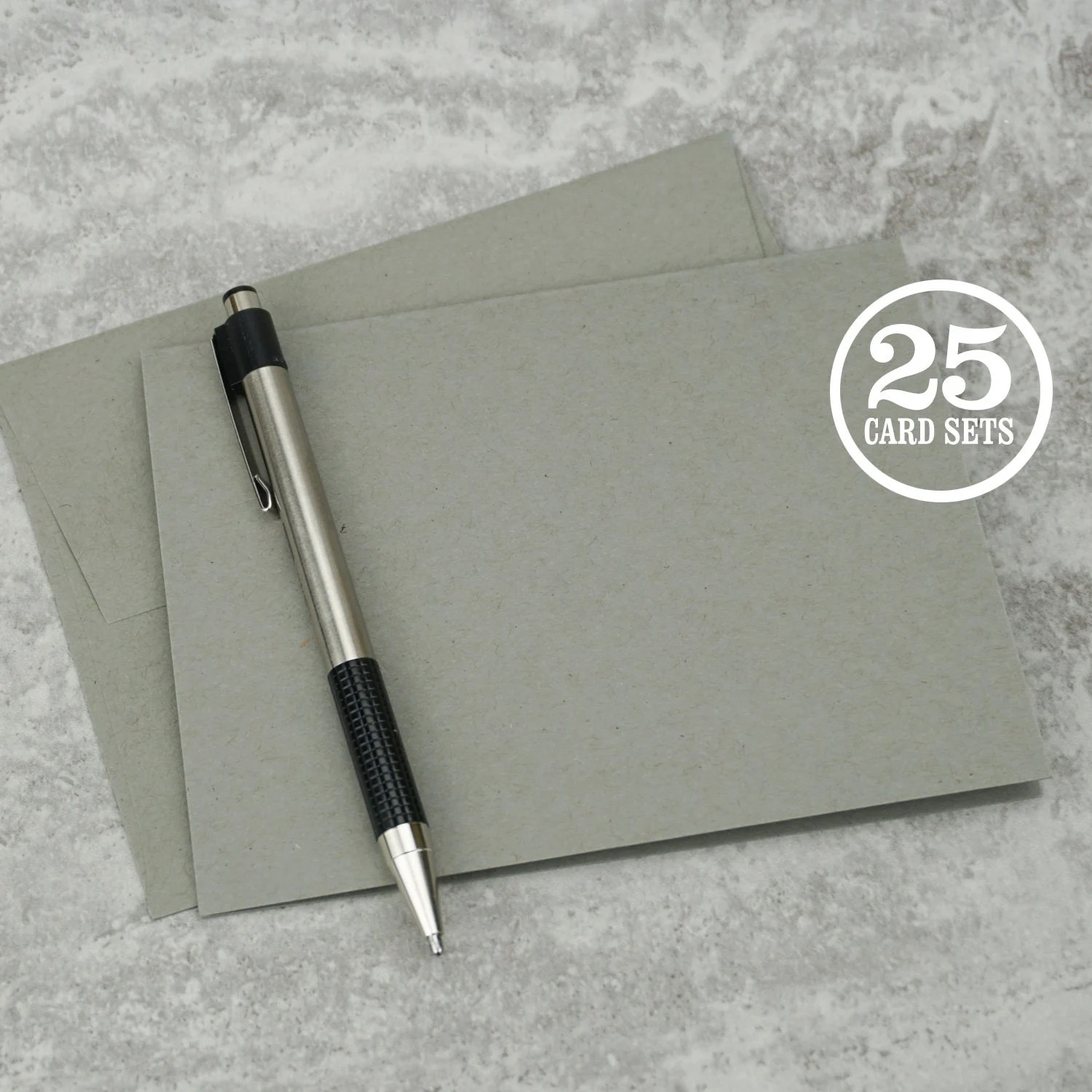 Gray Blank Notecards with Envelope Size A2 Cards and Etsy