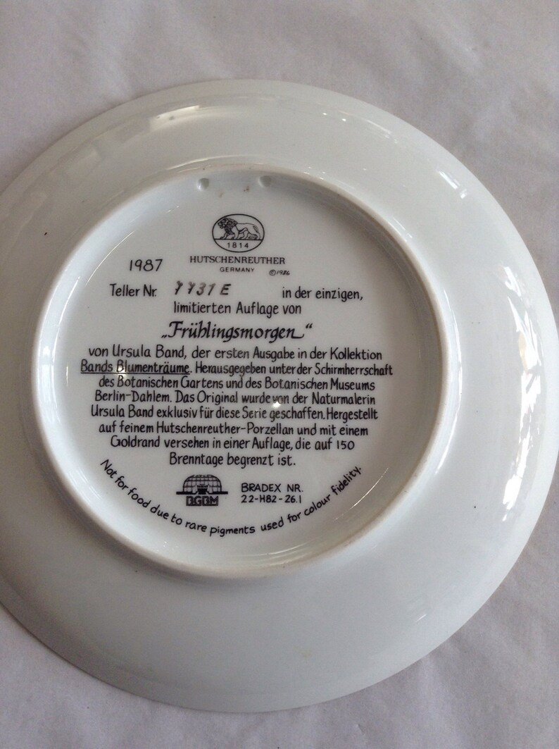 Hutschenreuther Teller Limited Edition Hutschenreuther Spring Morning Plate