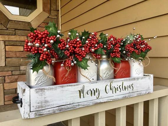 Mason Jar Christmas Centerpiece Christmas Tree Decor