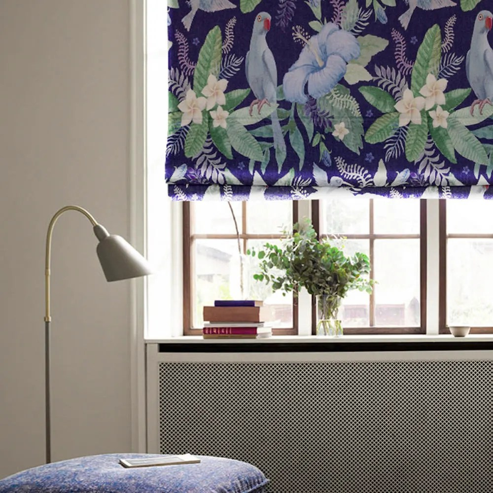 Diy Roman Shades Easy Parrot And Flower Diy Roman Shade Kit Linen Window Blinds Floral Roman Shade Custom Blinds Birds And Flowers Washable Easy Install