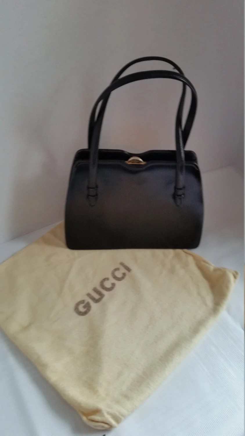 Etsy Vintage Gucci Vintage Gucci Smooth Leather Handbag Set 1960