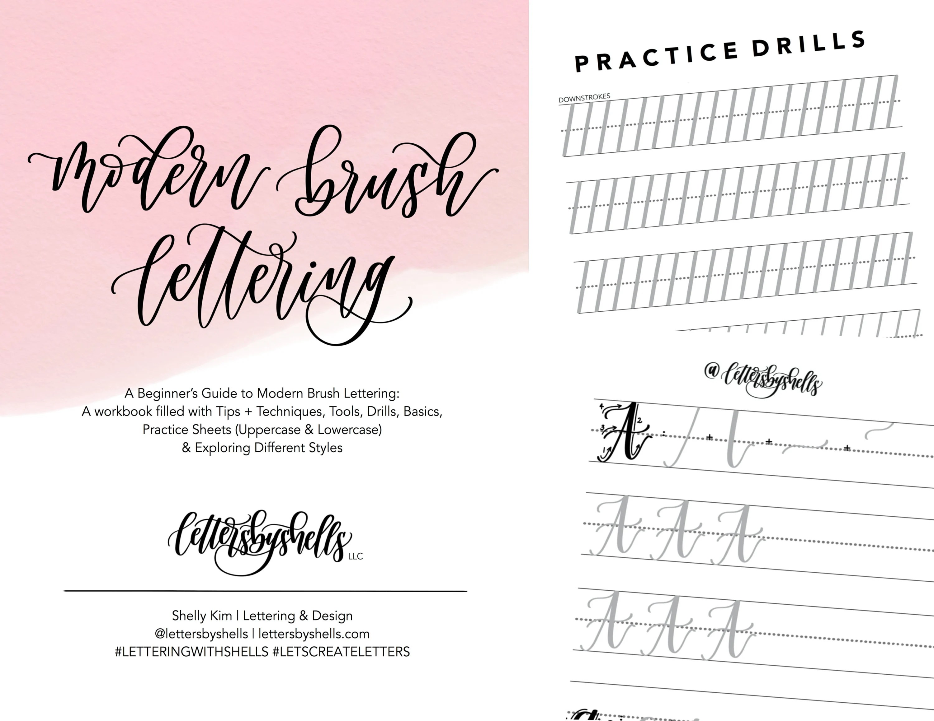 Wedding Calligraphy A Guide To Beautiful Hand Lettering Beginner S Guide To Modern Brush Lettering Modern Calligraphy Digital Download Workbook Practice Sheets Guide For Beginners