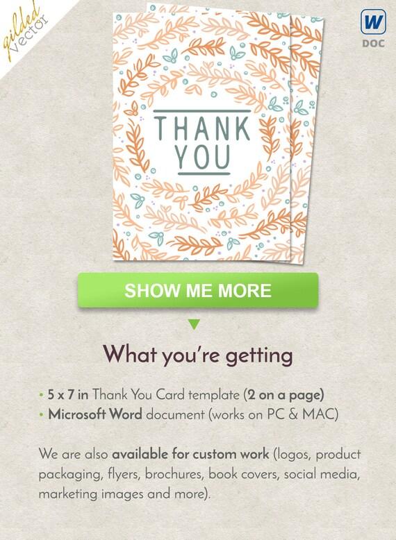 DIY Thank You Card Wedding Thank You Card Affordable Wedding Etsy