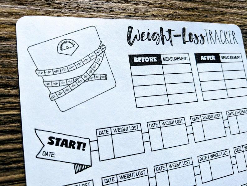 Sticker NEW WEIGHT-LOSS Tracker Bullet Journal Digital Etsy