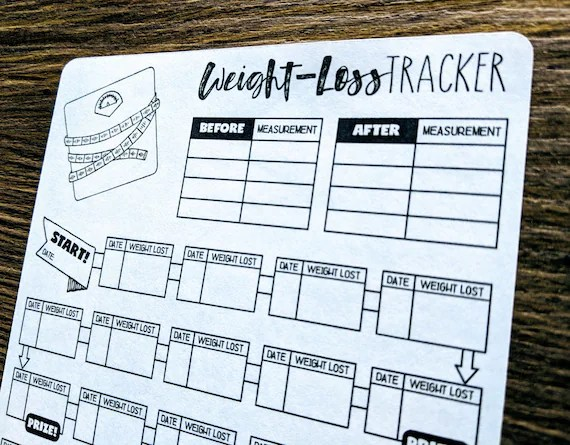 Digital Download NEW WEIGHT-LOSS Tracker Bullet Journal Etsy