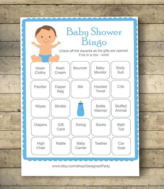 Boy Baby Shower Bingo Cards Baby Shower Bingo Game 40 Etsy