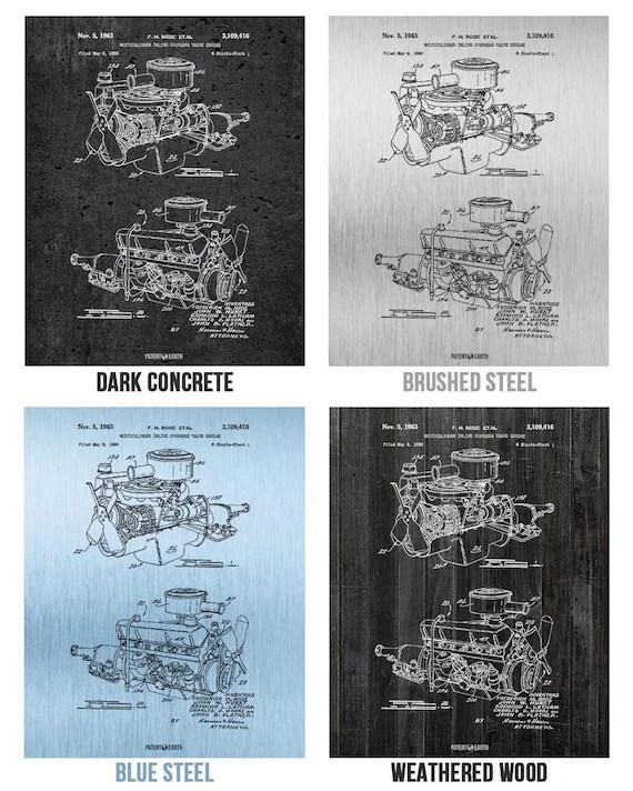 Chrysler 220 Slant Six Engine Poster Art Print Mechanic Gift Etsy