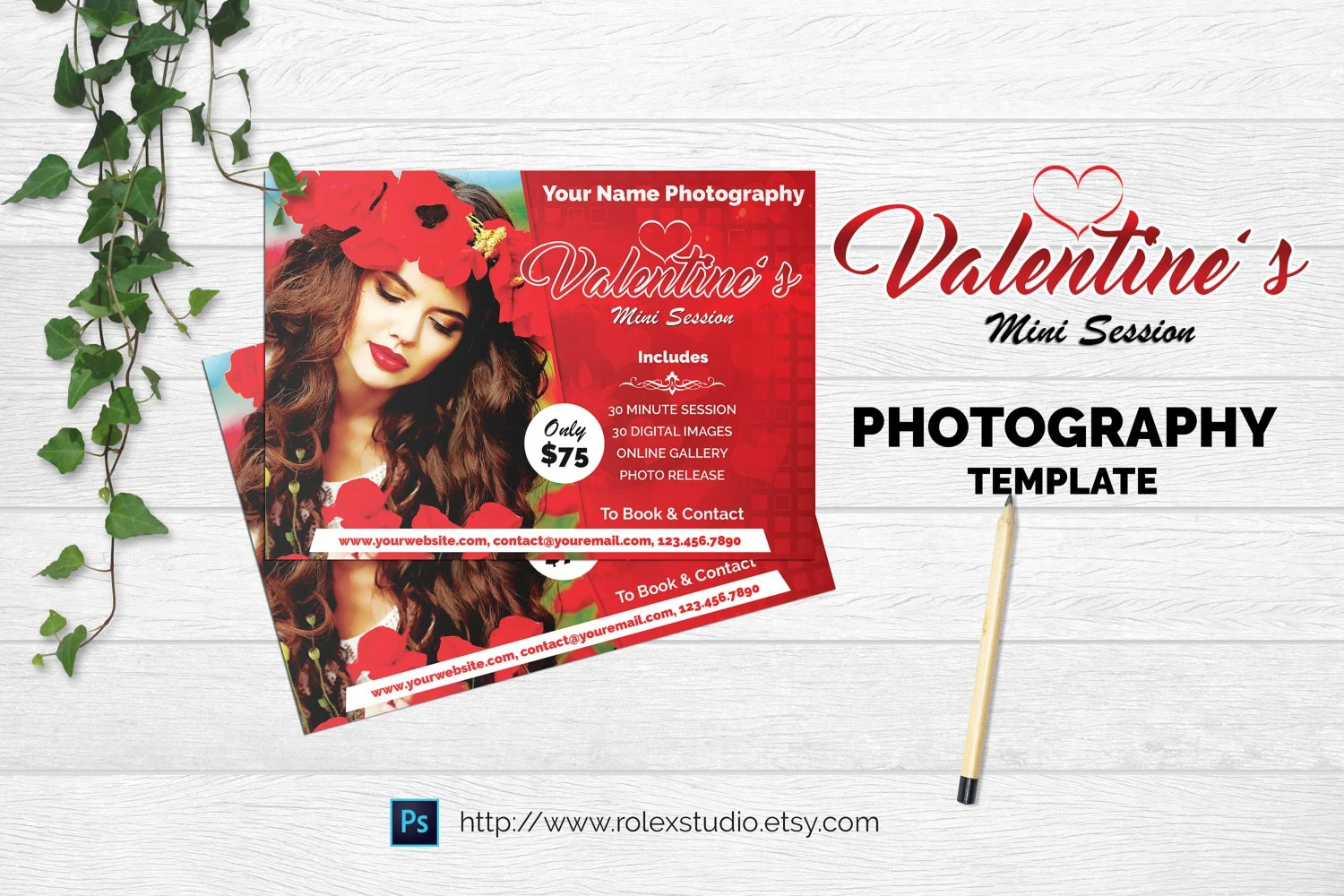 Valentine\u0027s Day Mini Session Template Photography Etsy