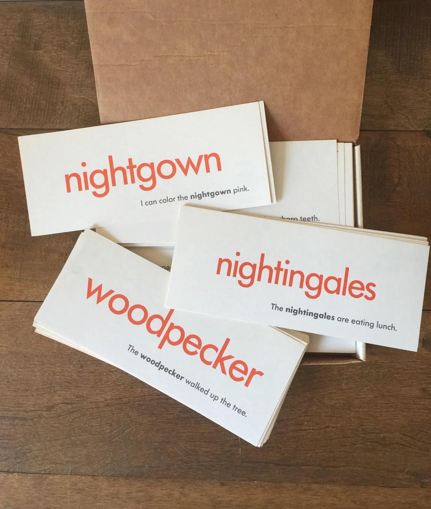 Vintage Flash Cards Vintage My Word Box My Word Flash Cards Etsy
