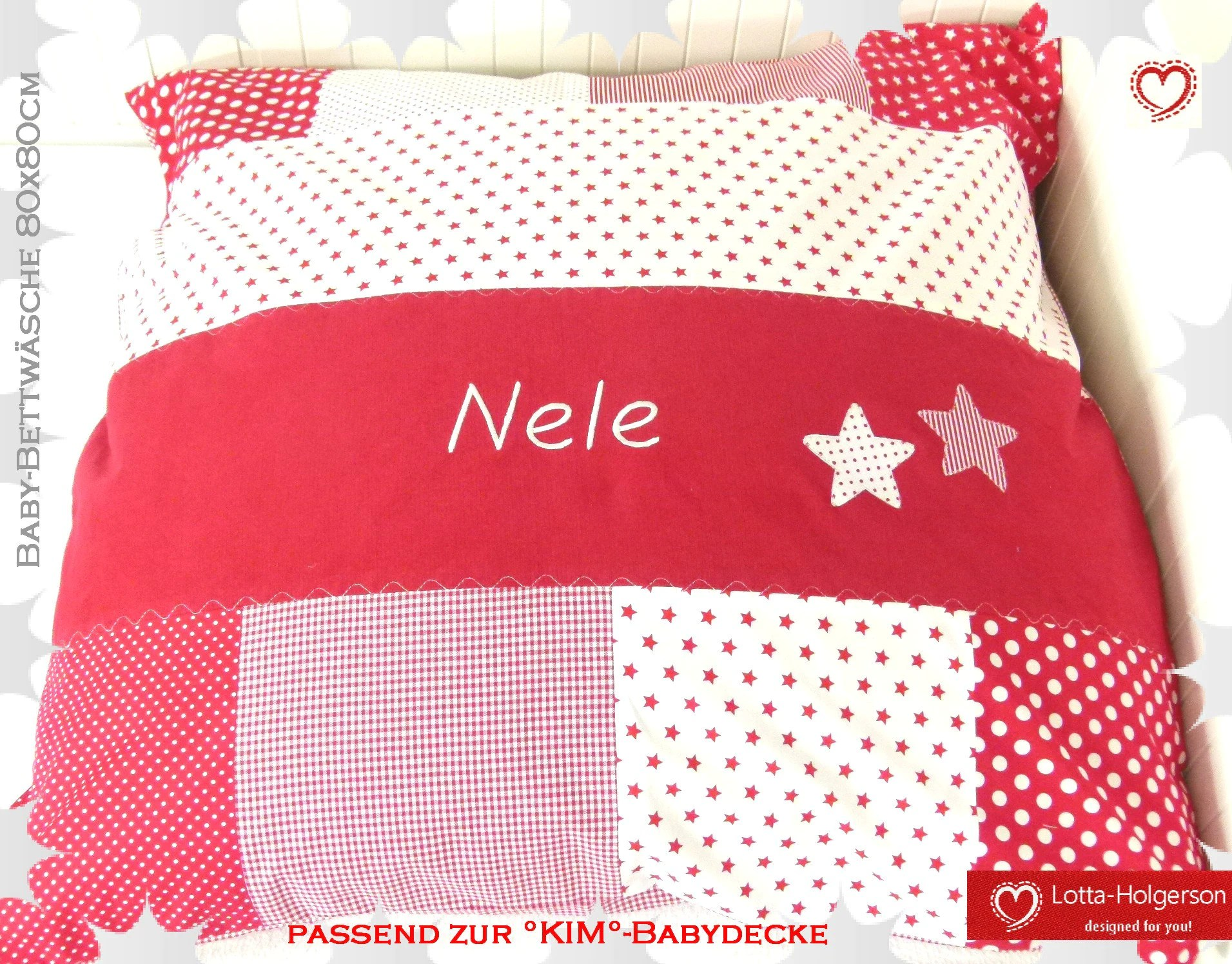 Bettwäsche Mit Namen Baby Bedding Baby Blanket Cover Patchwork Pillow Cover Duvet Cover 80 X 80 Cm Personalizable With Name
