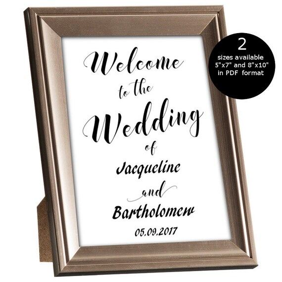 SALE DIY Welcome to the wedding Sign Printable welcome sign Etsy