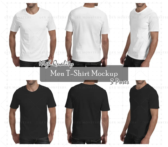 Men Tshirt Mockup PNG / PSD Front Back Perspective Etsy