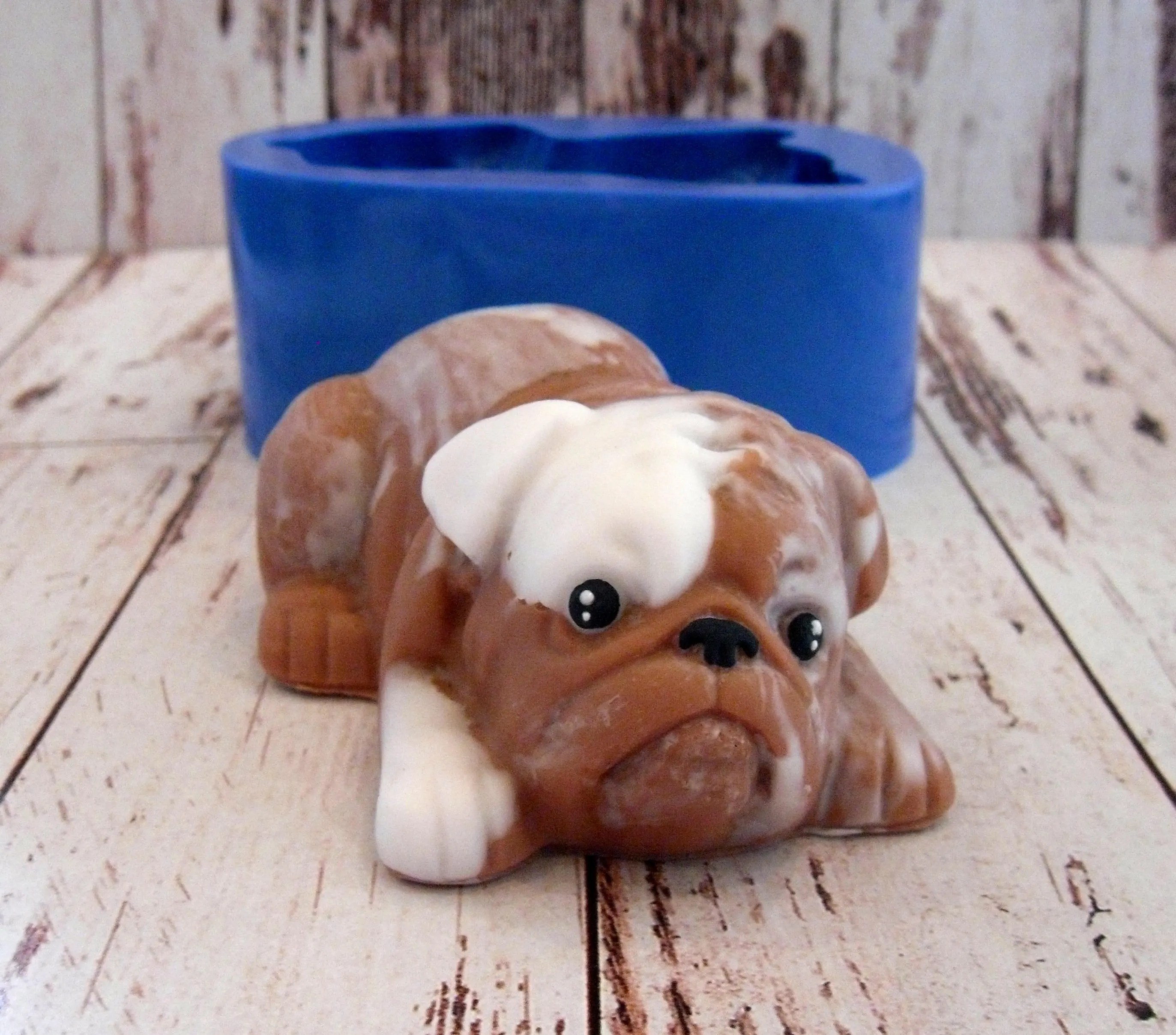 Silicone Soap Molds Australia Bulldog 2 Silicone Mold For Soap And Candles Making Mould