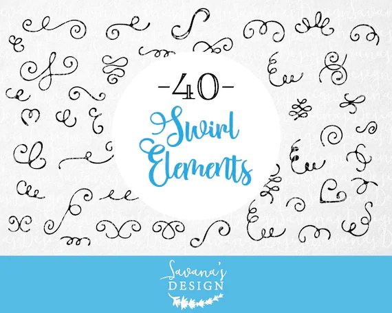 Digital frames and borders svg borders handdrawn clipart Etsy - word design frames