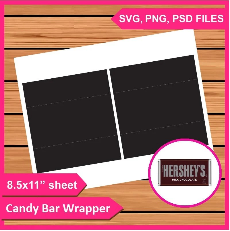 Instant Download Hershey Candy Bar Wrapper Template PSD PNG Etsy - candy bar wrapper template