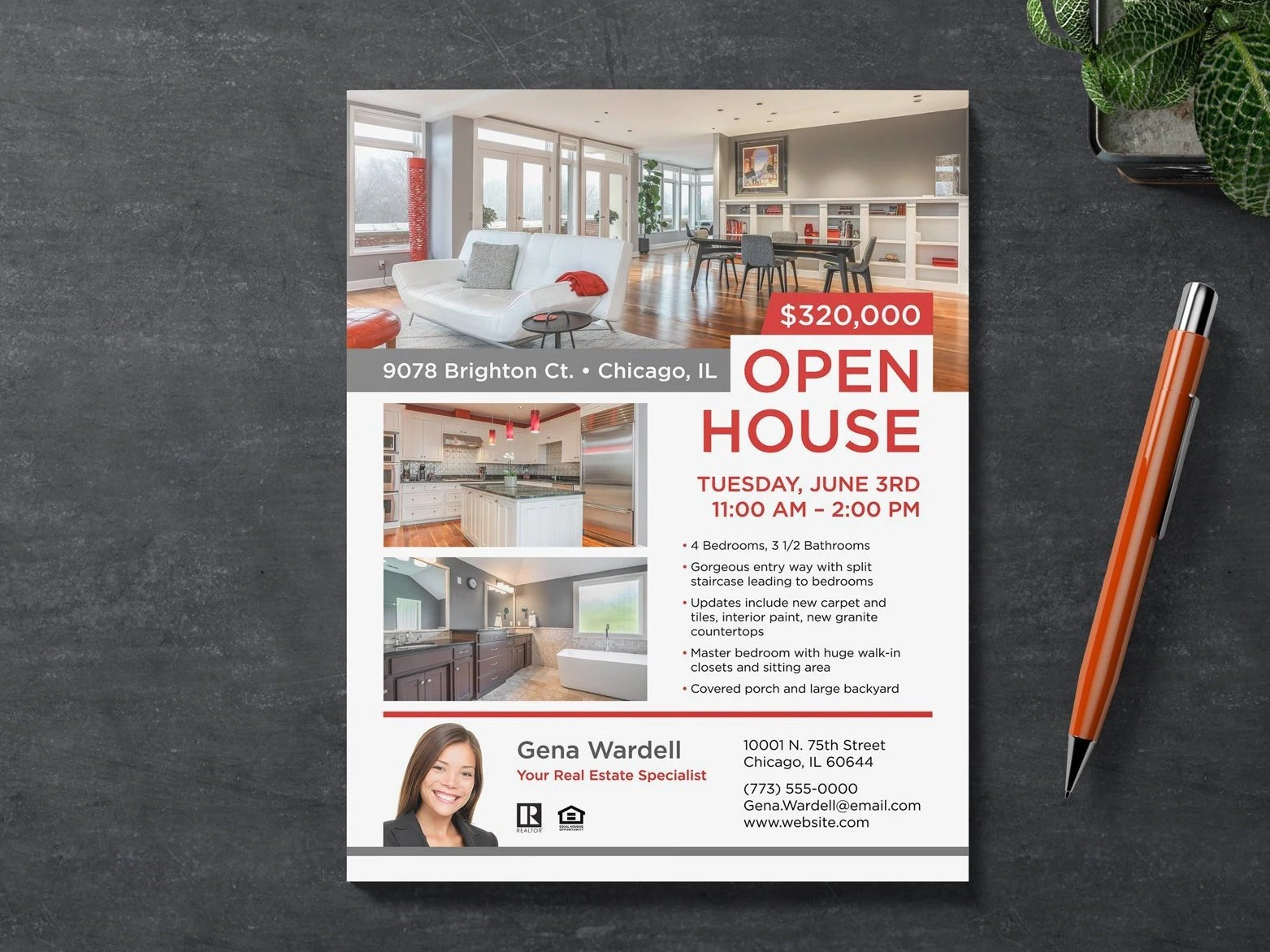 Open House Real Estate Flyer Template Home For Sale Just Etsy