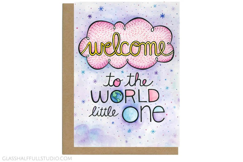 Welcome to the World Little One Baby Shower Card New Baby Etsy